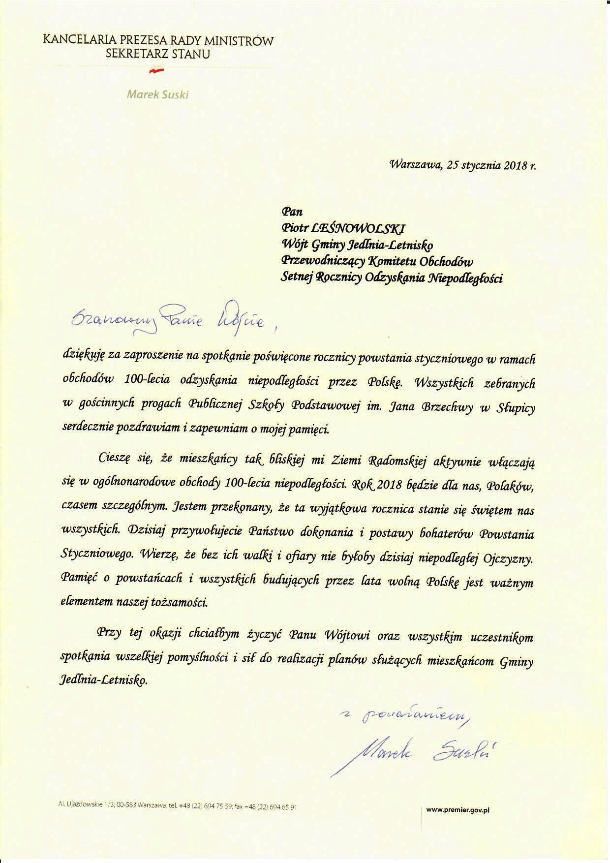 Jubileuszowy Rok Obchodów 100 Lecia Odzyskania Przez Polskę