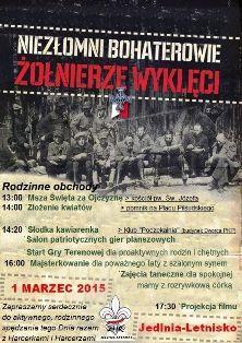 Narodowy Dzień Pamięci Żołnierzy Wyklętych wJedlni-Letnisko